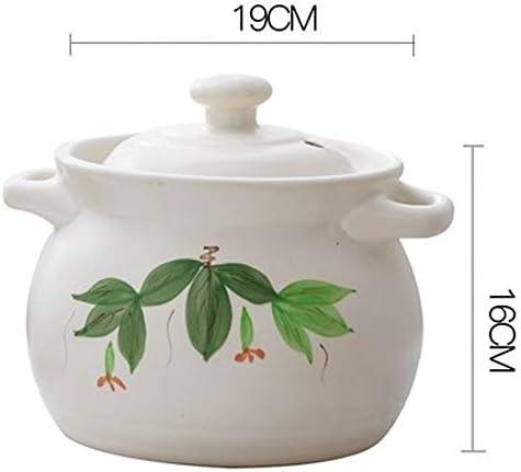 SHYOD Marmite en céramique à Double poignée, cocotte en céramique résistante à la Chaleur avec Couvercle, marmite à Soupe, Batterie de Cuisine en céramique (Size : 19cm)