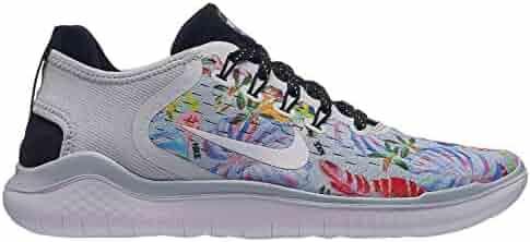 af1dd86fb0529 Nike Women s Free RN 2018 Pure Platinum White Black Mesh Running Shoes 6.5 M