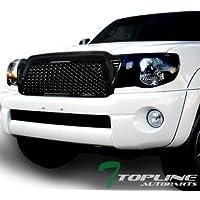Topline Autopart Black Sport Mesh Style Front Hood Bumper...