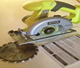Ryobi One+ P501G 18V Lithium Ion Cordless 5 1/2 Inch Circular Saw w/ Included Blade (Battery Not included, Power Tool Only)