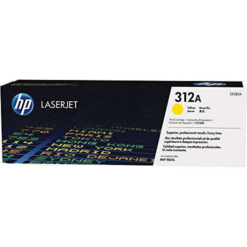 Toner Laserjet Color HP Suprimentos CF382AB HP 312A Amarelo M476NW / M476DW