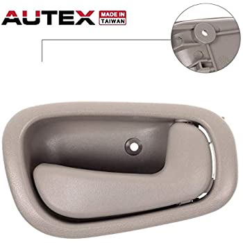 AUTEX Door Handle 4pcs Interior Front Rear Left Right Driver Passenger Side Compatible with Toyota Corolla 1998 1999 2000 2001 2002 Beige Door Handle 79501 79500 6920502050E0 6920602050E0 80889 80890