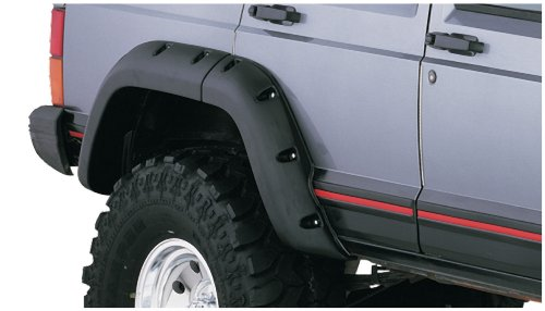 Bushwacker 10036 07 Jeep Cut Out Fender Flare Rear Pair