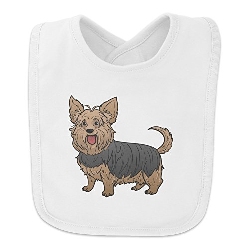 Yorkshire Terrier Yorkie with Tongue Out Baby Bib - White (Yorkie Got)