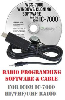 Icom IC-7000 Two-Way Radio Programming Software & Cable Kit by RF Gear 2 Go