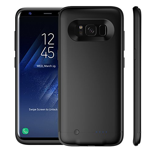 galaxy s8 plus battery case 5200mah rechargeable external battery portable charger protective. Black Bedroom Furniture Sets. Home Design Ideas