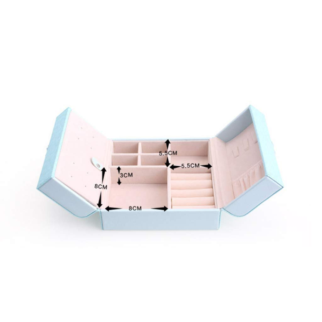 Jewelry Jewelry Storage Box Travel Jewellery Organizer Case Portable Jewelry Bag for Rings, Necklaces, Bracelets, Earrings (Color : Pink) by Boyang (Image #3)