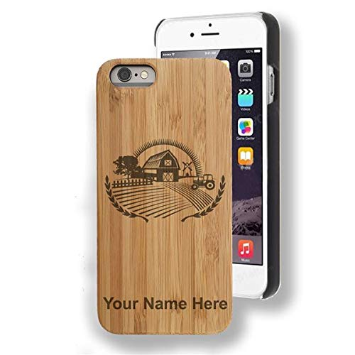 Bamboo Case for iPhone SE, Farm, Personalized Engraving Included