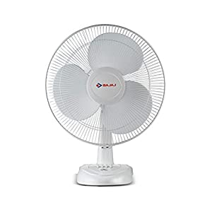 Bajaj Esteem 400 mm Table Fan (White)
