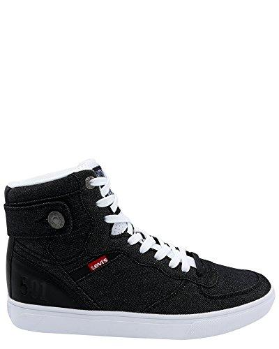 c16a60bb Levi's Men's Jeffrey Hi 501 BYF Sneaker,Black/White,7 - Buy Online ...