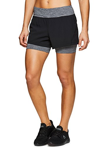 RBX Active Women's Athletic Short with Inner Bike Short Black L