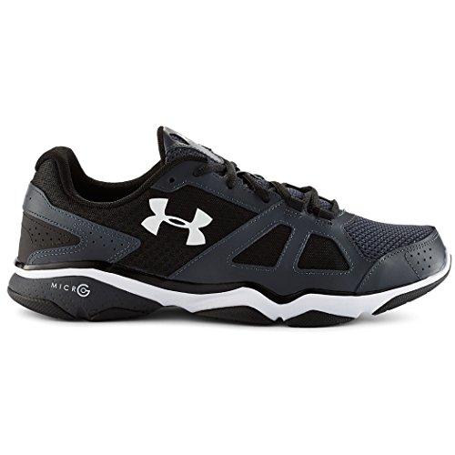 Cheap Under Armour Micro G Strive V Shoe – Men's Lead / Black / White 7.5