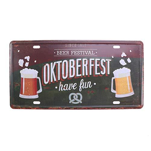 VORCOOL Oktoberfest Retro Beer Metal Sign Pub Home Hote Decor Placas Carteles Iron Art