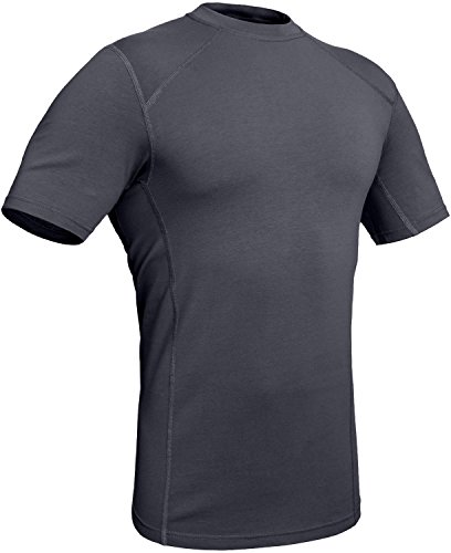281Z Military Stretch Cotton Underwear T-Shirt - Tactical Hiking Outdoor - Punisher Combat Line (Graphite, Medium)