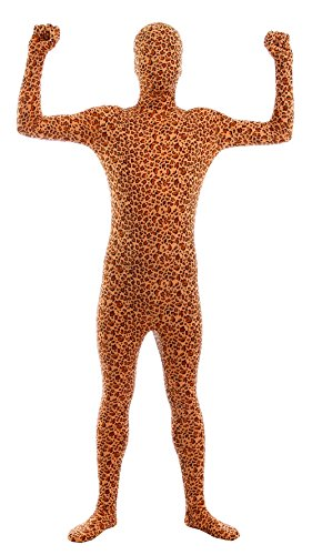 Sheface Kids Spandex Leopard Full Bodysuit Fancy Dress Costume (Small, P24)
