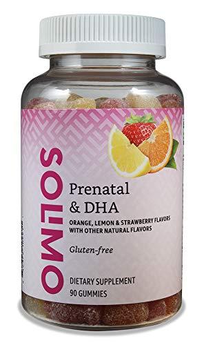 Amazon Brand – Solimo Prenatal Vitamins & DHA – Pregnancy Wellness – 90 Gummies (45-Day Supply)