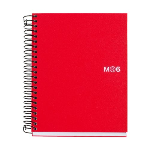 miquelrius-6-x-8-wirebound-notebook-6-subject-college-ruled-red