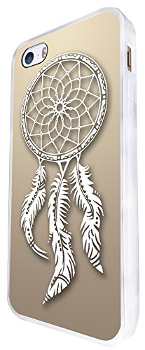 298 - Shabby Chic Eastern Art Lucky Charm Dream Catcher Design iphone SE - 2016 Coque Fashion Trend Case Coque Protection Cover plastique et métal - Blanc
