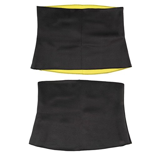 Belly Shaper For Women Thermal Waist Trainer - Slimming Waist Belts Sports Safety Body Shaper Training Corsets Yoga Fitness Tops - Fat Burning Belt (L)
