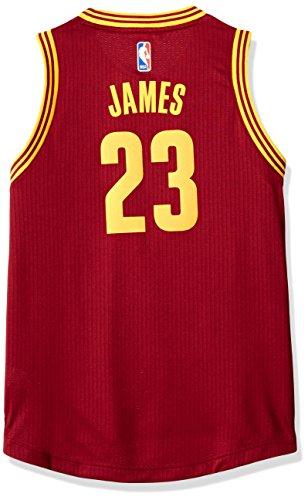 - Outerstuff NBA Cleveland Cavaliers LeBron James Boys Player Swingman Road Jersey, Large (14-16), Burgundy