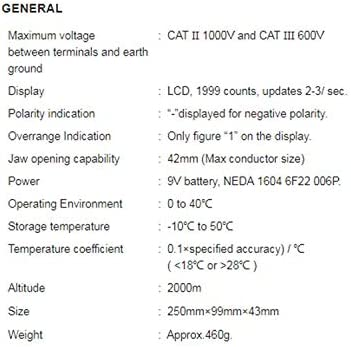 LKK-KK MCH-98100A Digital Clamp Multimeter High Precision AC DC Automatic Range Digital Clamp Meter