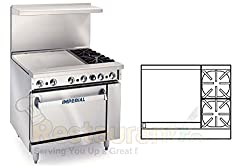 Imperial Commercial Restaurant Range 36 W 2 Burners 24 Griddle Standard Oven Nat Gas Ir 2 G24