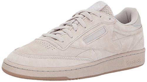 Reebok Mens Club C 85 Sg Fashion Sneaker Zand Steen / Witte Gom