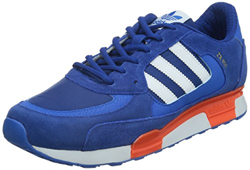 adidas Originals - ZX 850, Sneakers, Unisex Blu (Collegiate Royal/Ftwr White/Solar Orange)
