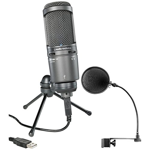 Audio-Technica AT2020USB Plus Condenser Microphone with Pop Filter by Audio-Technica