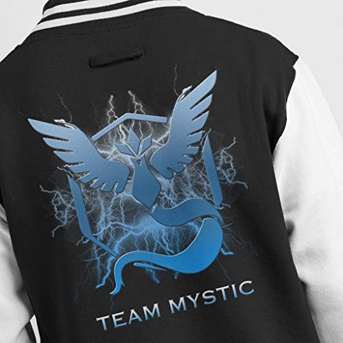 Team white Pokemon Lightening Black Logo Go Jacket Men's Mistic Varsity Ice 5vw4Rv