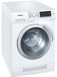 Siemens WD14H420 Independiente Carga frontal B Color blanco lavadora - Lavadora-secadora (Carga frontal, Independiente, Color blanco, Izquierda, Botones, Giratorio, LCD)