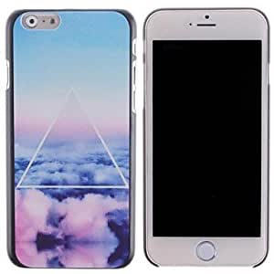ZXM-Nubes de colores y triángulo pattern pc cubierta dura para iphone 6