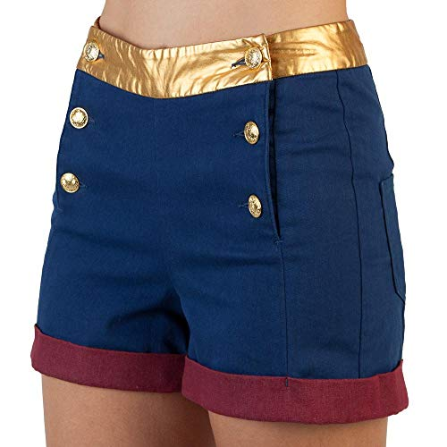 DC Comics Wonder Woman High Waisted Shorts-Large]()