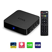 MXQ Android Smart tv box Amlogic S805 Quad Core Google TV 1gb RAM 8gb HD Support H.265 Wifi Streaming Media Player