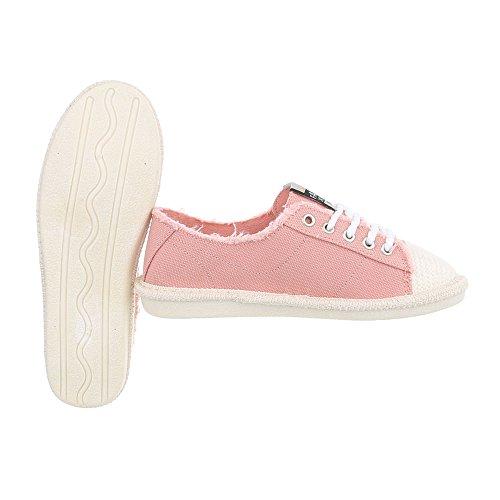 Plano D Ital Zapatillas Zapatos para Mujer 39 Design Bajas Rosa Zapatillas q6wztw7