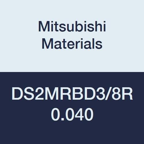 Medium Flute Mitsubishi Materials DS2MRBD3//8R0.040 Series DS2MRB Carbide Diamond Star End Mill 0.040 Corner Radius 0.3750 Cutting Dia 2 Flutes