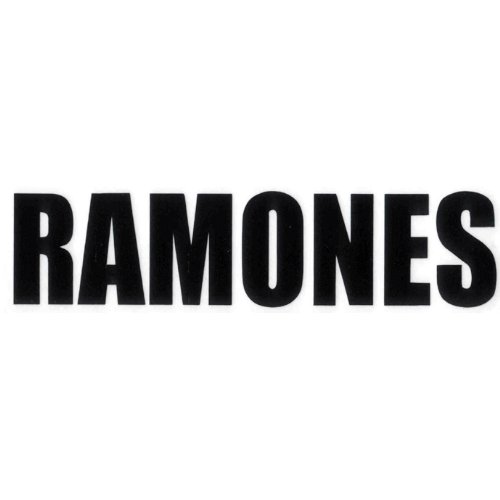 THE RAMONES Logo Rub-On STICKER ADESIVO, Officially Licensed Products Classic Rock Artwork, 1.7'' x 7.3