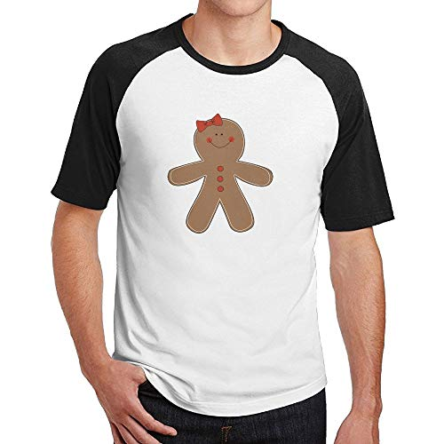 Gingerbread Woman Clipart Mens Graphic Cotton 3D Print Top Tees