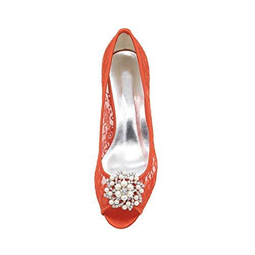 L@YC Damenschuhe Satin Stiletto Ferse Peep Toe Sandalen Hochzeit / Party & Abend Hochzeit Schuhe mehr Farben zur Verfügung White