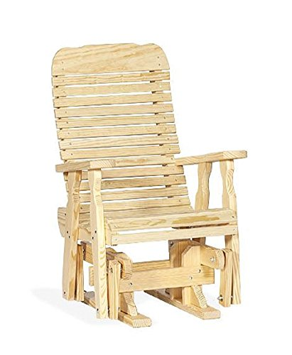 Pine Single Extra Wide Outdoor Glider Chair (Natural)
