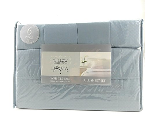 Willow Collection 6 piece Super Soft Microfiber Sheet Set (Grey, ()