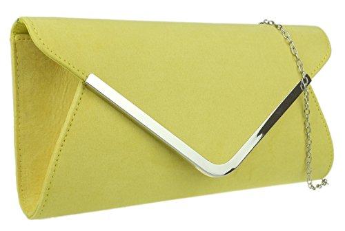 Bolsa Girly Diseño Handbags Mano De Chica Amarillo Con Sobre 11P6Orp