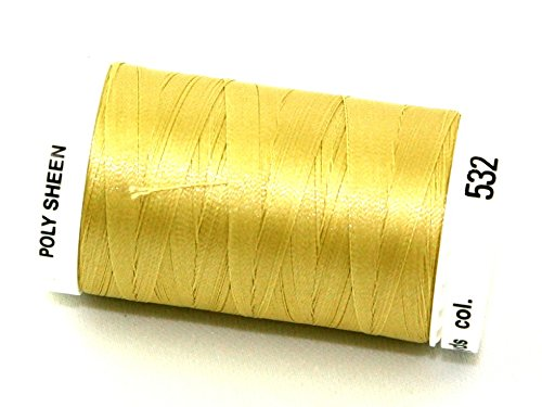 800 Champagne (Mettler Polysheen Polyester Machine Embroidery Thread 800m 800m 532 Champagne - per spool)