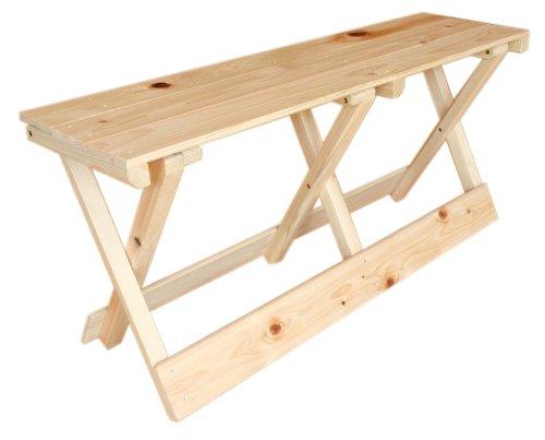 ヒノキ 折りたたみ ベンチ(木製、無垢、アウトドア) B009GB5NH4
