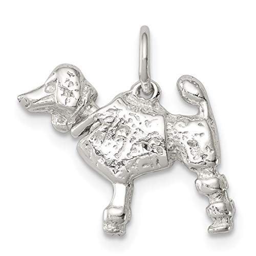 Solid Poodle Dog Charm In...