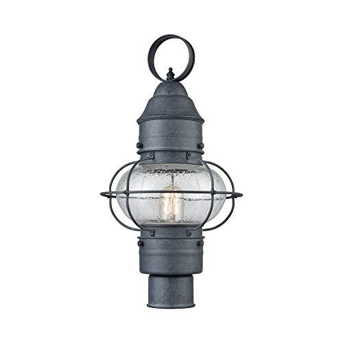 (Elk Lighting 57172/1 Onion 1 Outdoor Aged Zinc Post Mount,)