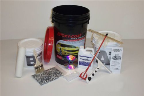 Epoxy Floor Coating  EPOXYCOAT Full KIT  Taupe with Beige Blend Flakes
