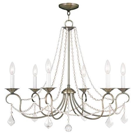 Amazon.com: livex iluminación 6516 Pennington 6 luz 1 Tier ...