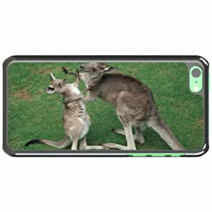iPhone 5C Black Hardshell Case kangaroo grass baby Desin Images Protector Back Cover