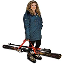 Hands Free & Ski, a ski and pole carrying system by Yost, Black